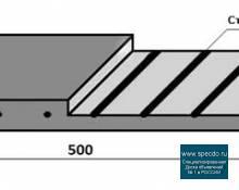 Техпластина 500х250х40, Армированная тросом