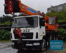 Аренда автокрана 25 тонн стрела 28 метров