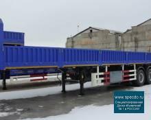 Полуприцеп Бортовой 60 тонн, 3 оси, рессорная АБС. 2021 год.
